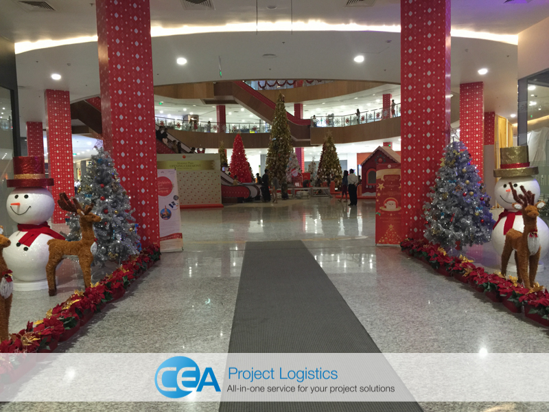 CEA Project Logistics Myanmar - Myanmar plaza christmas decorations