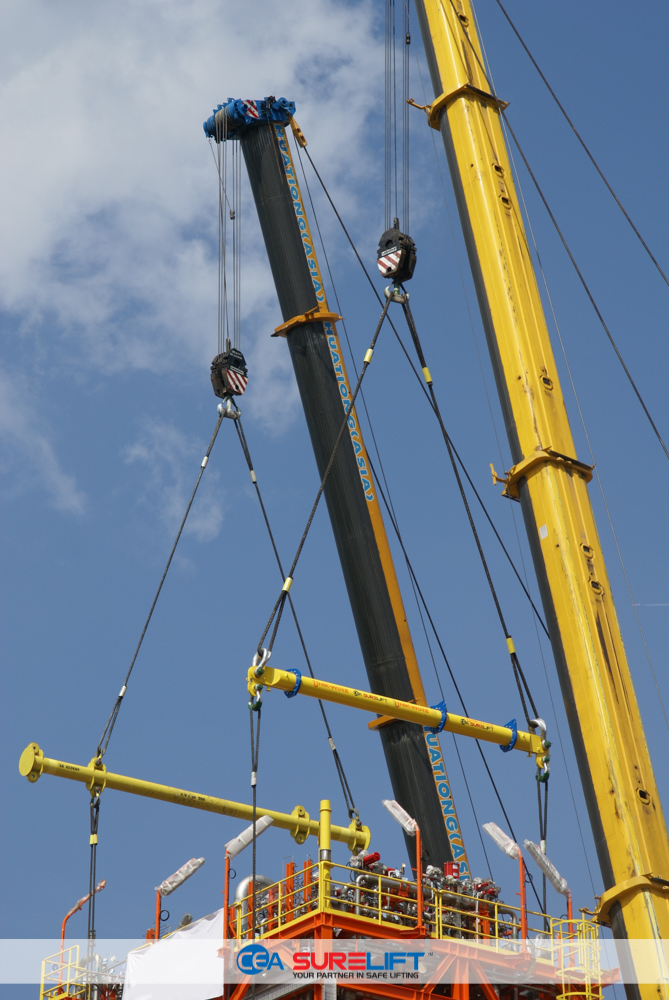 CEA Surelift Spreader Beams during lift