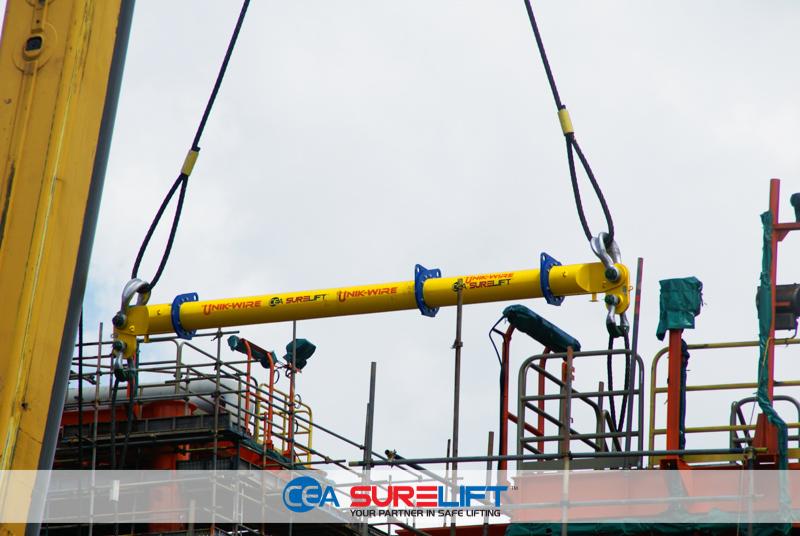 CEA Surelift Spreader Beam ready for lift Unikwire