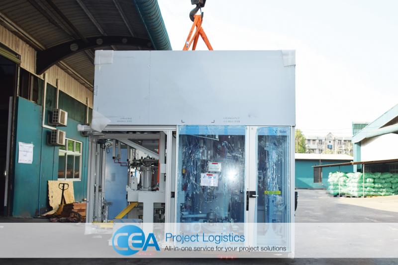 Bottle Blower lifted CEA Project Logistics Myanmar
