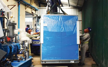 CEA Myanmar Bottle Blower Installation