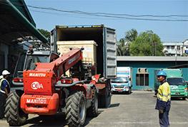 CEA Myanmar unloading