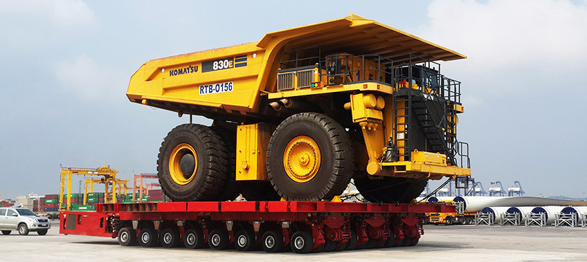 Komatsu Truck in Storage at CEA Project Logistics Free Trade Zone