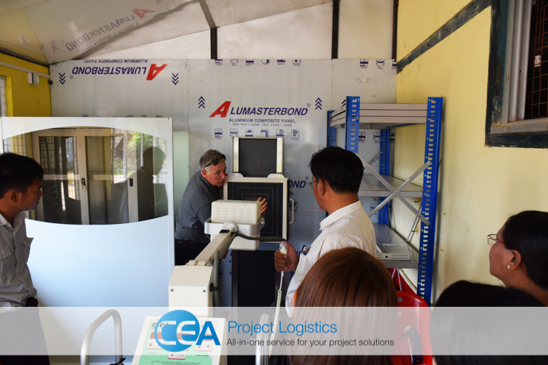 X-ray machine training CEA Project Logistics Myanmar