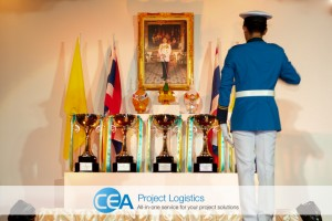CEA Racing - TR Motorsport Royal Trophies in place