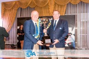 CEA Racing - TR Motorsport Earl and Thomas with trophy