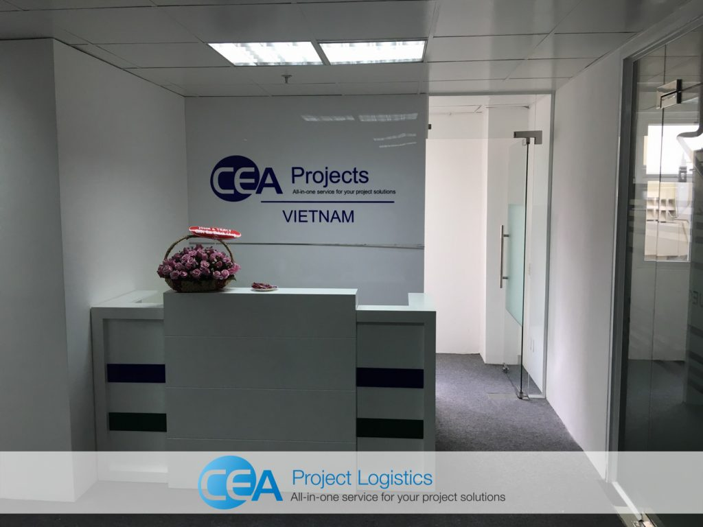 CEA Projects Vietnam reception area with flowers