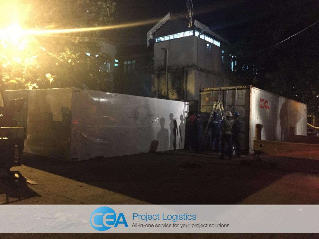 CEA Myanmar teams arrive at installation site - CEA Project Logistics Myanmar