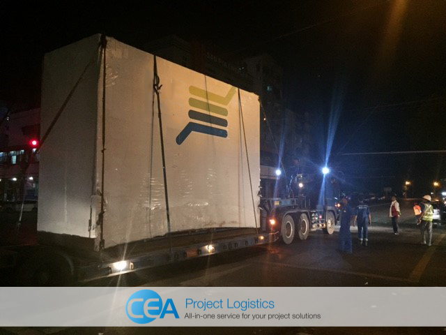 Cargo secured on Trailer - CEA Project Logistics Myanmar