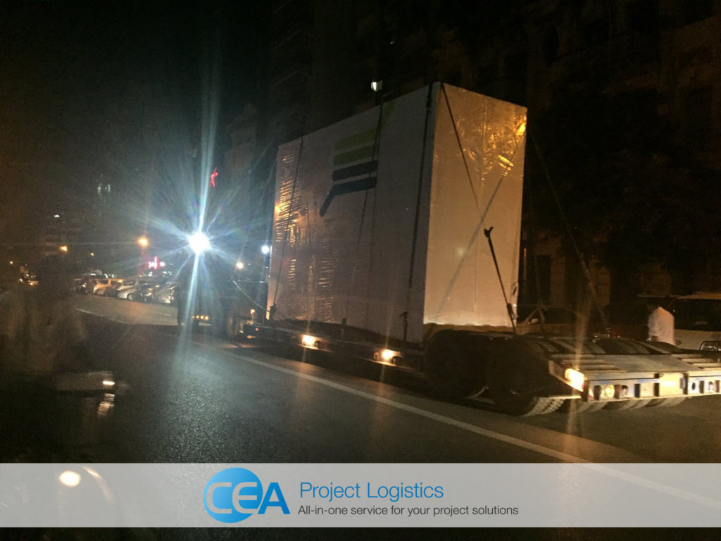 CEA Myanmar trailers on the road - CEA Project Logistics Myanmar