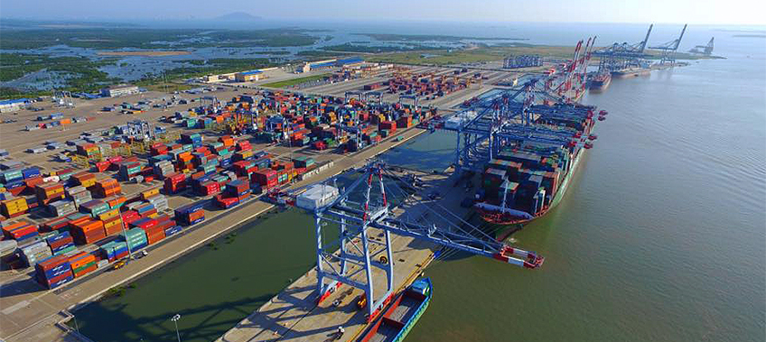 Aerial View of Cai Mep Port Vietnam - CEA Vietnam