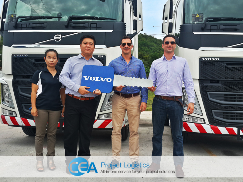 CEA And Volvo Management together - CEA Project Logistics Myanmar