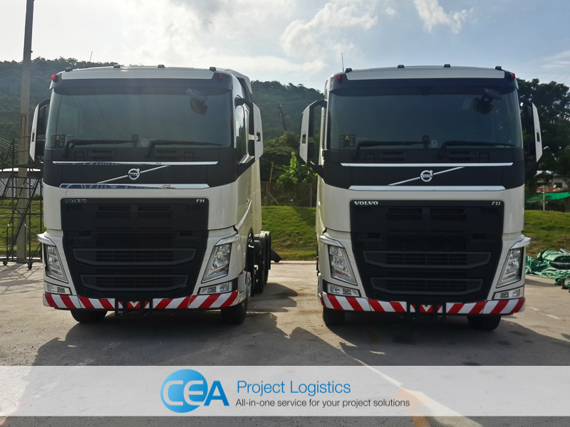 CEA Volvo FH 440 Front view - CEA Project Logistics Laem Chabang