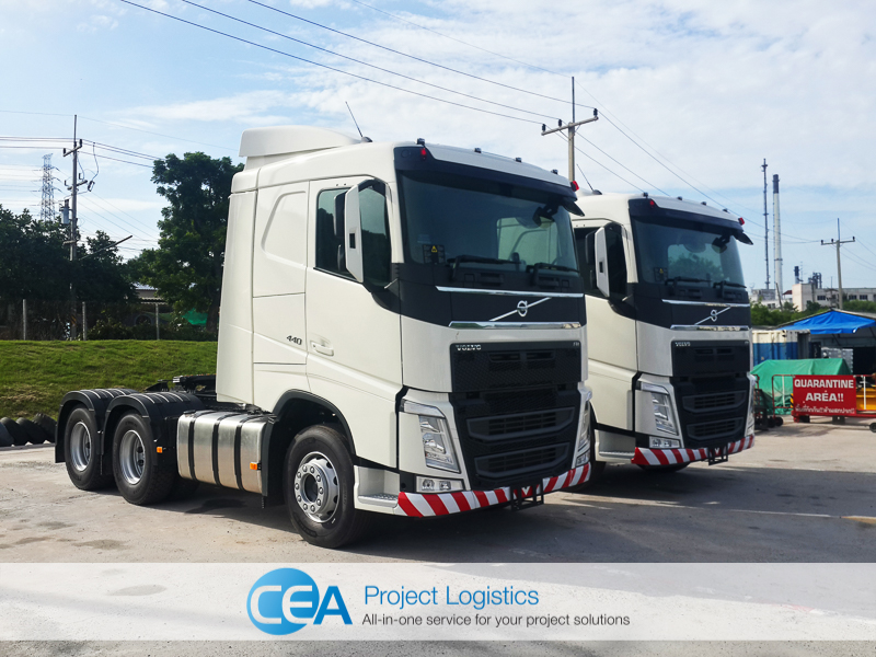 Volvo FH 440 left side view - CEA Project Logistics Laem Chabang