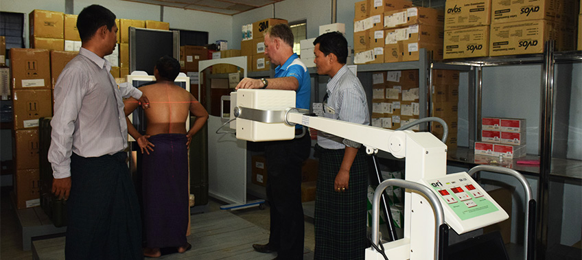 CEA Myanmar - X-ray machine installation