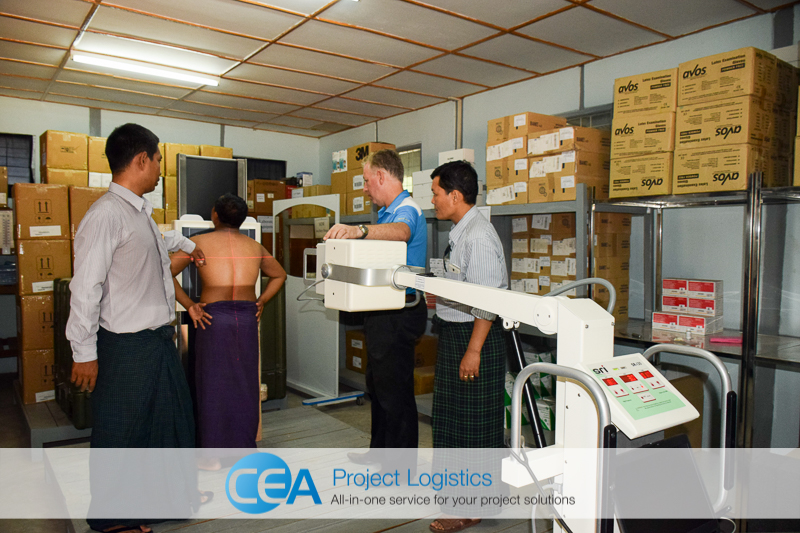 CEA Myanmar Complete X-Ray Machine Project 2