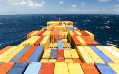 A container ship at sea - Freight forwarder CEA Project Logistics