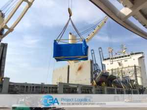 Breakbulk Cargo being lifted on to the ship
