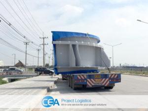 Breakbulk Transportation truck on road