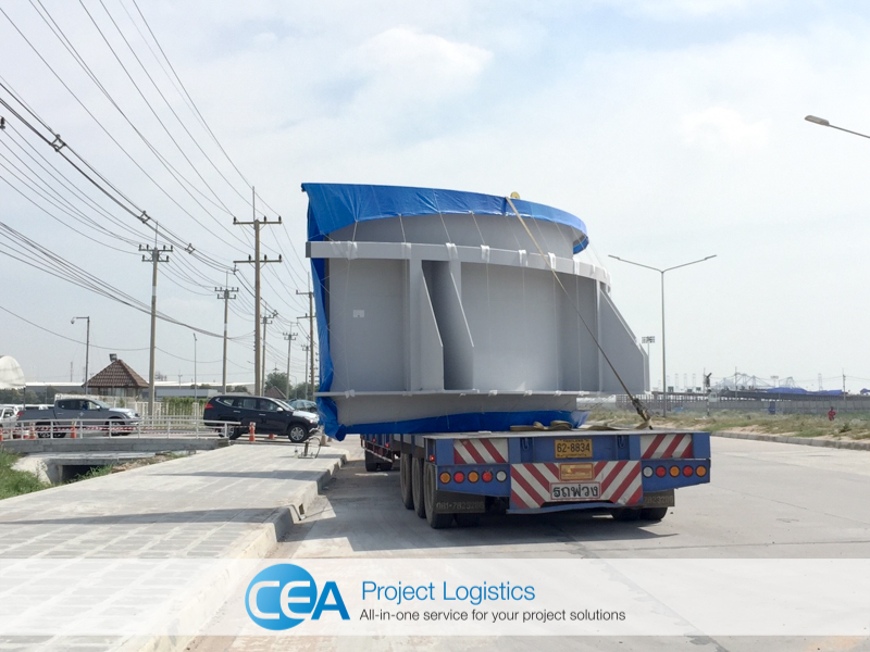 Breakbulk Transportation truck on road