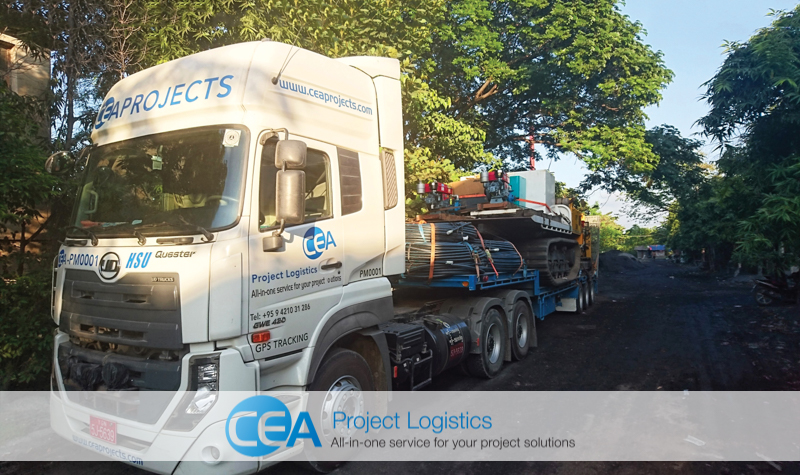 CEA Project Logistics Prime Mover with trailer attached