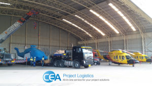 convoy arriving at utapao naval base - CEA project Logistics Specialised transport -