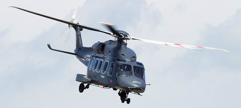 An Agusta Westland AW149 Helicopter in flight - specialised transport - CEA Project Logistics