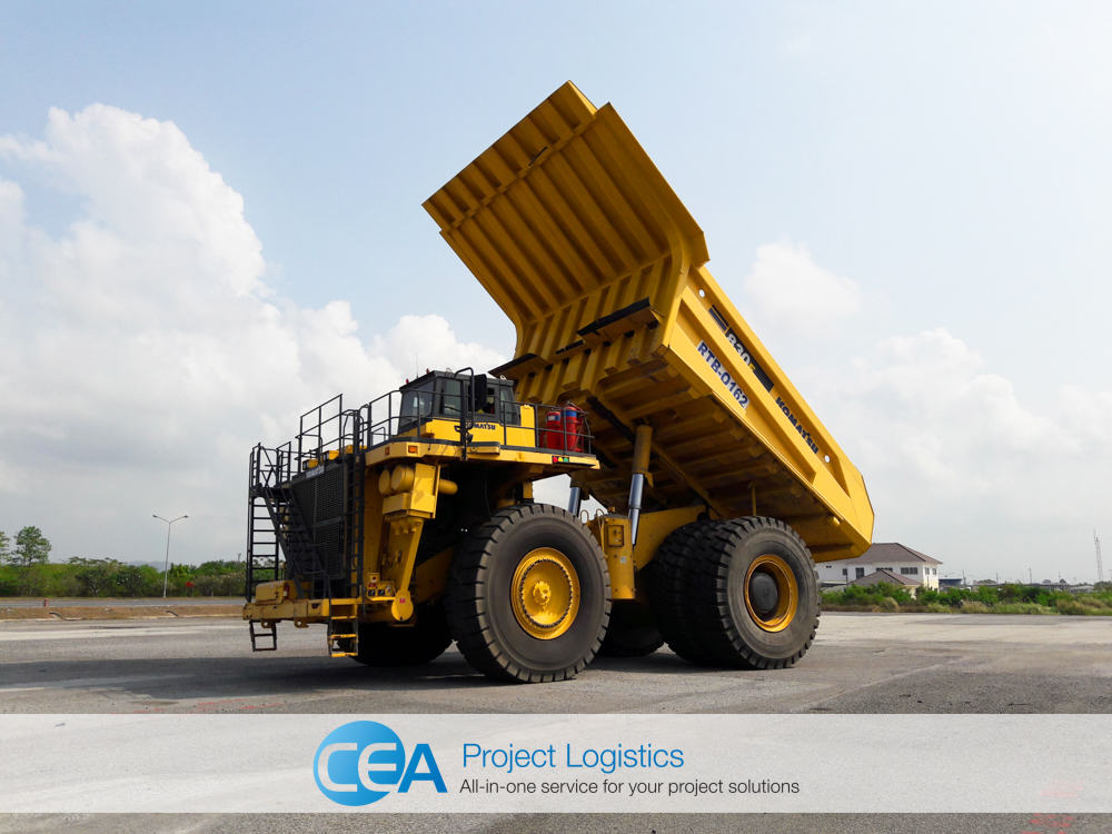 Komatsu being tested in the CEA Free Trade Zone
