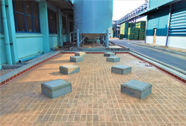 Concrete bases readied for anchor bolts installation - CEA Project Logistics Myanmar