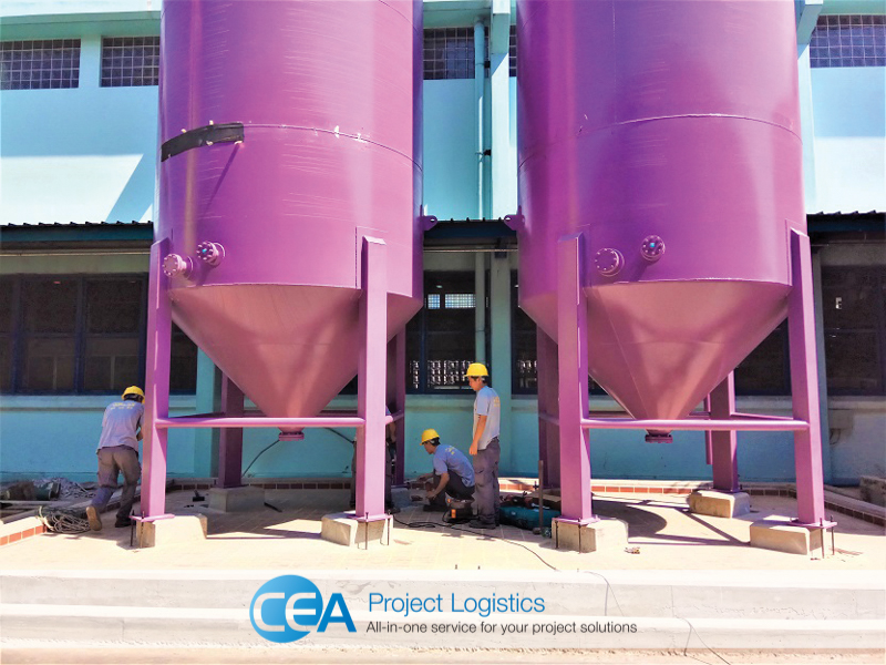 teams work on Final alignment after installation cea project logistics
