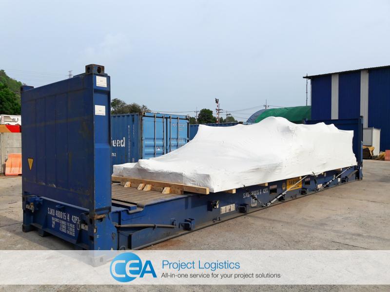 Cargo on Flat Rack - CEA Project Logistics Demobilisation
