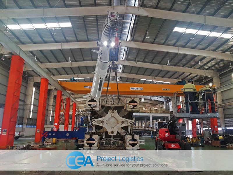 Lifting ejector - CEA Project Logistics Demobilisation