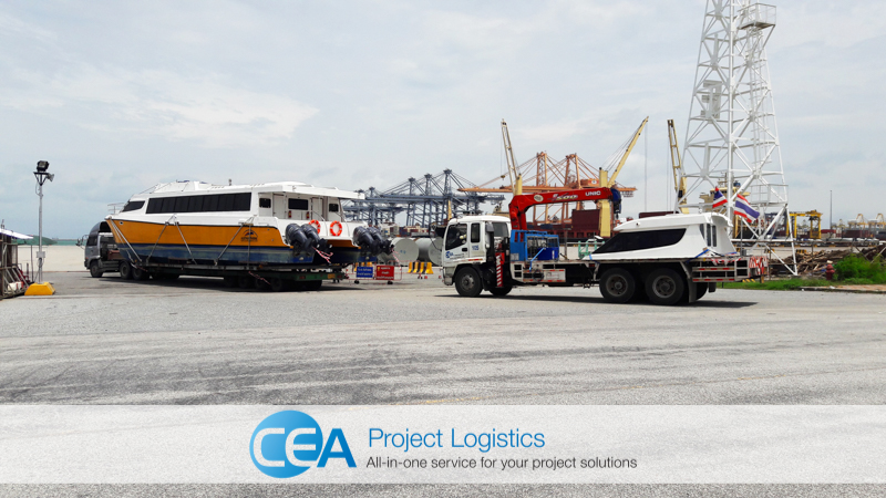 Ferry arrives at Laem Chabang Port - CEA Logistics Transport and export project