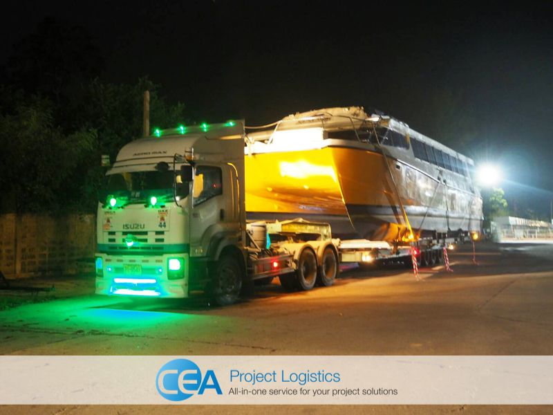 night transportation to CEA facility - CEA Logistics Transport and export project