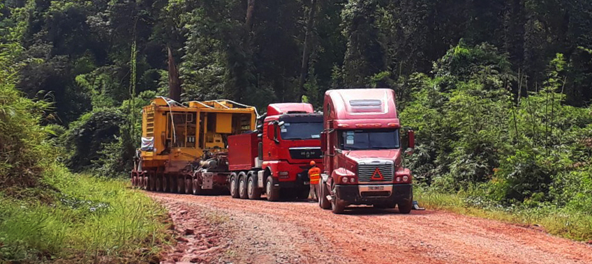 Cross border into Laos - CEA Vietnam Transportation Project