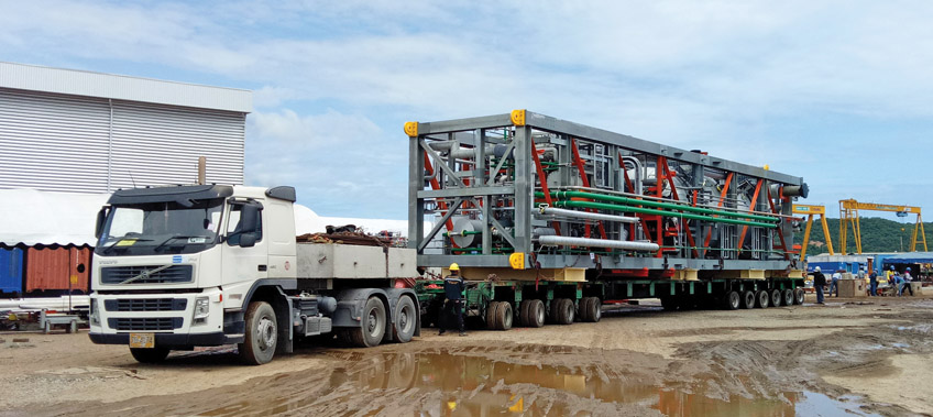 Ethoxylation Plant First cargo leaves for the port