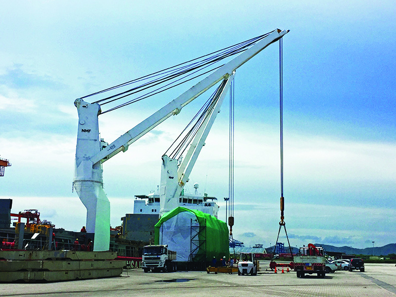 Ethoxylation Plant modules loadout at port