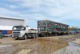 Ethoxylation Plant modules being transported