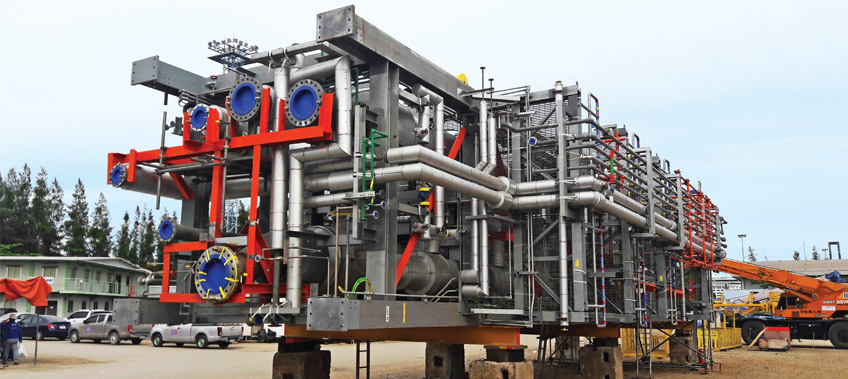 Ethoxylation Plant module being worked on