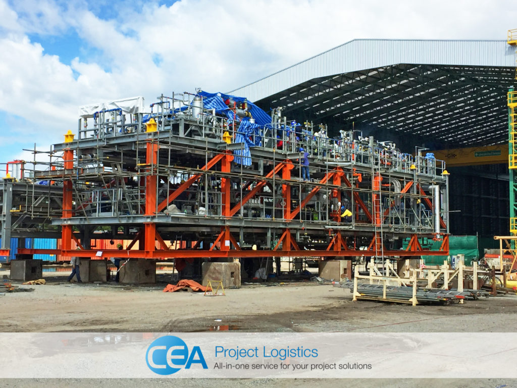 ethoxylation plant steel supports installed by CEA Project Logistics
